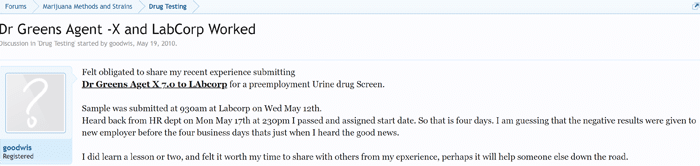 how to pass a drug test with dr greens agent x urine